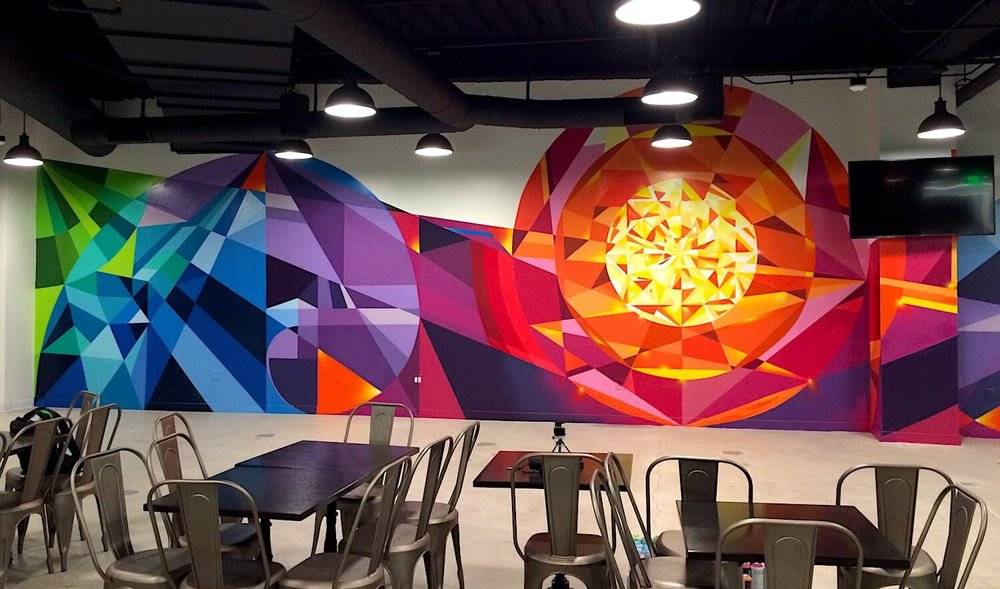 Commissioned Interior Mural 4 for EndemolShine | Los Angeles USA, 2016