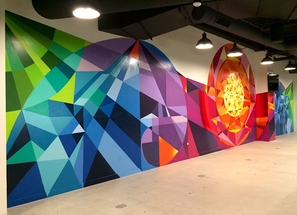 Commissioned Interior Mural 6 for EndemolShine | Los Angeles USA, 2016