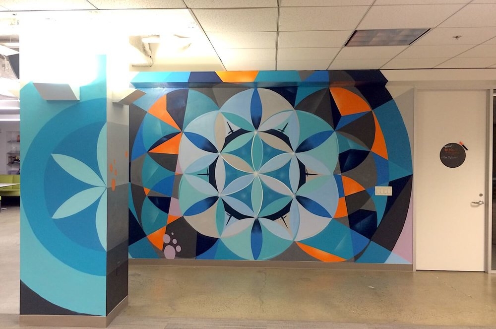 Commissioned Office Mural for Ubiquity | San Francisco USA, 2016