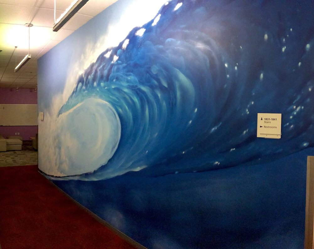 Commissioned Office Mural 2 for Microsoft | Mountain View USA, 2016
