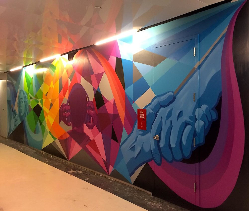 Commissioned Office Mural 2 for The Trade Desk | New York City USA, 2016