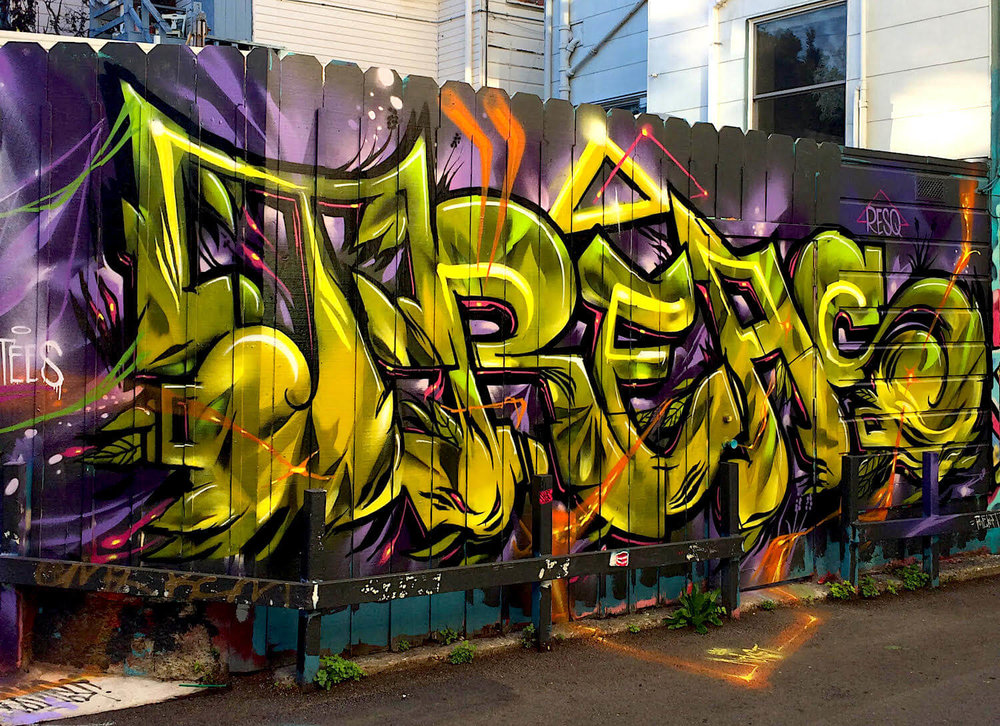 Treas Graffiti Mural 2 | Mission District, San Francisco USA, 2016