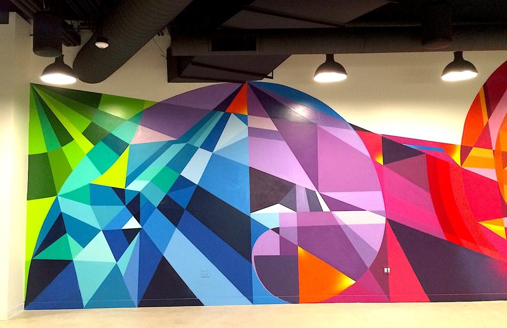 Commissioned Large-scale Office Mural 2 for EndemolShine | Los Angeles USA, 2016Commissioned Office Mural for IronSource | San Francisco USA, 2016