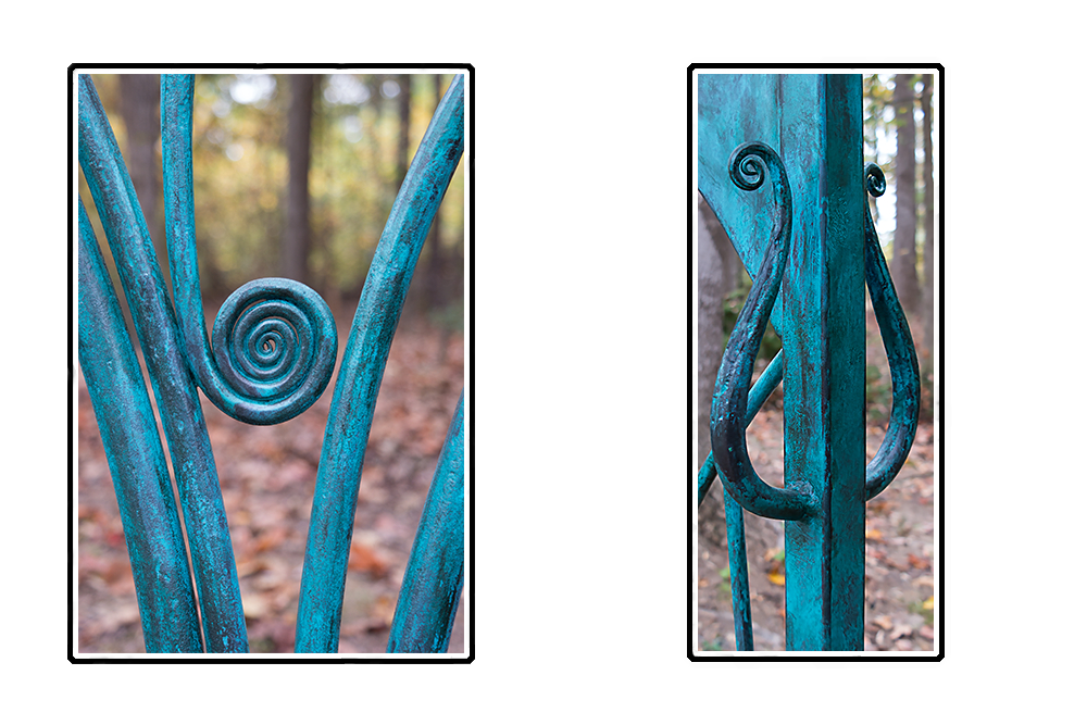 Custom ironwork, metal sculpture, stone carvings and wall art by Scott McCulloch  in Asheville NC.