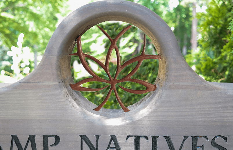 Custom Steel and Wood Sign for UNCC Botanical Gardens
