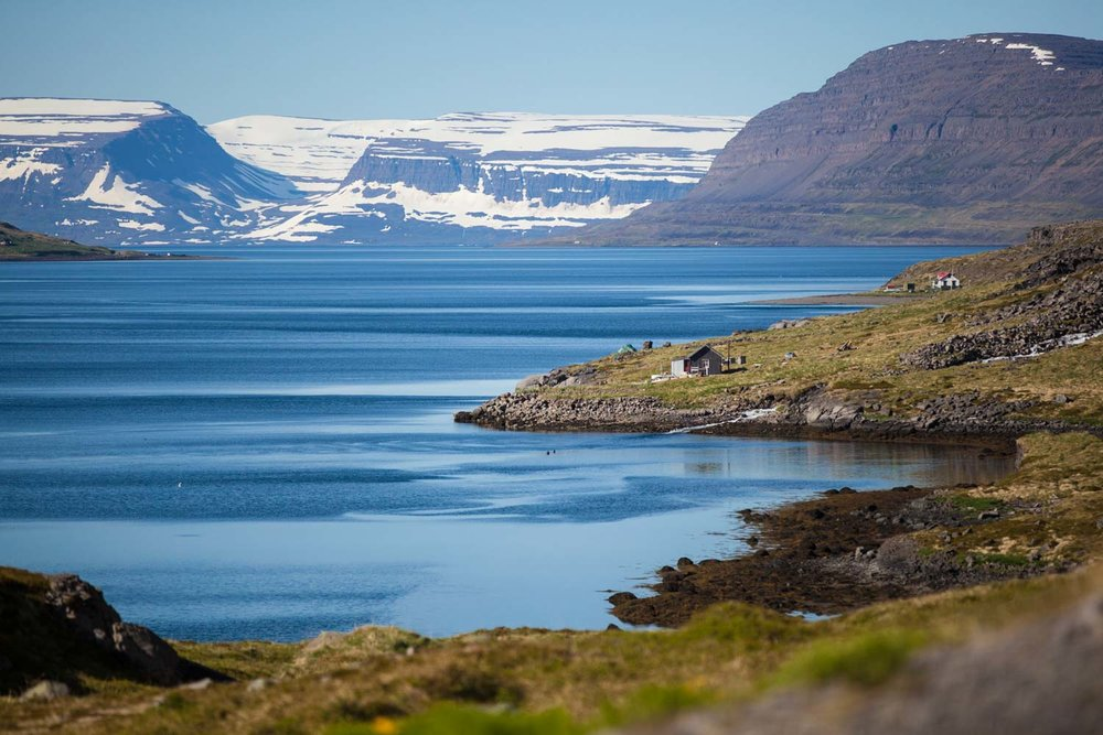 My favourite drive of the trip. Weaving around vast fjords on the road from Isafjordur to Heydalur.