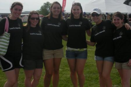 Jennifer (furthest R) and fellow Lori's Hands volunteers in 2011