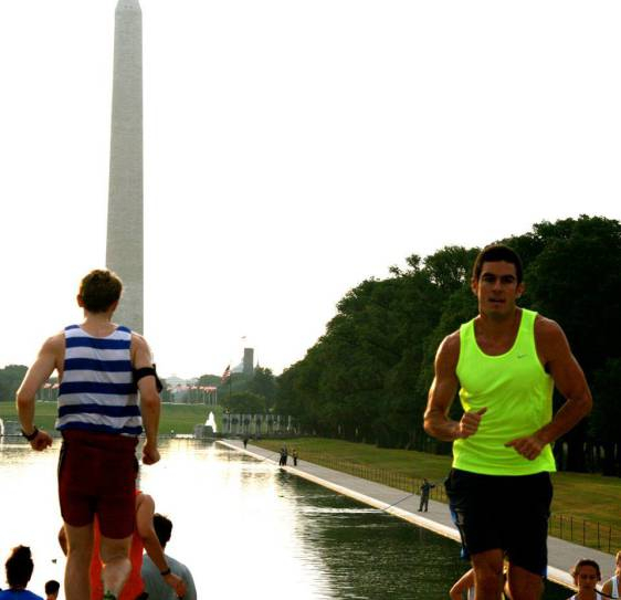 Luke, training in D.C. through the  November Project