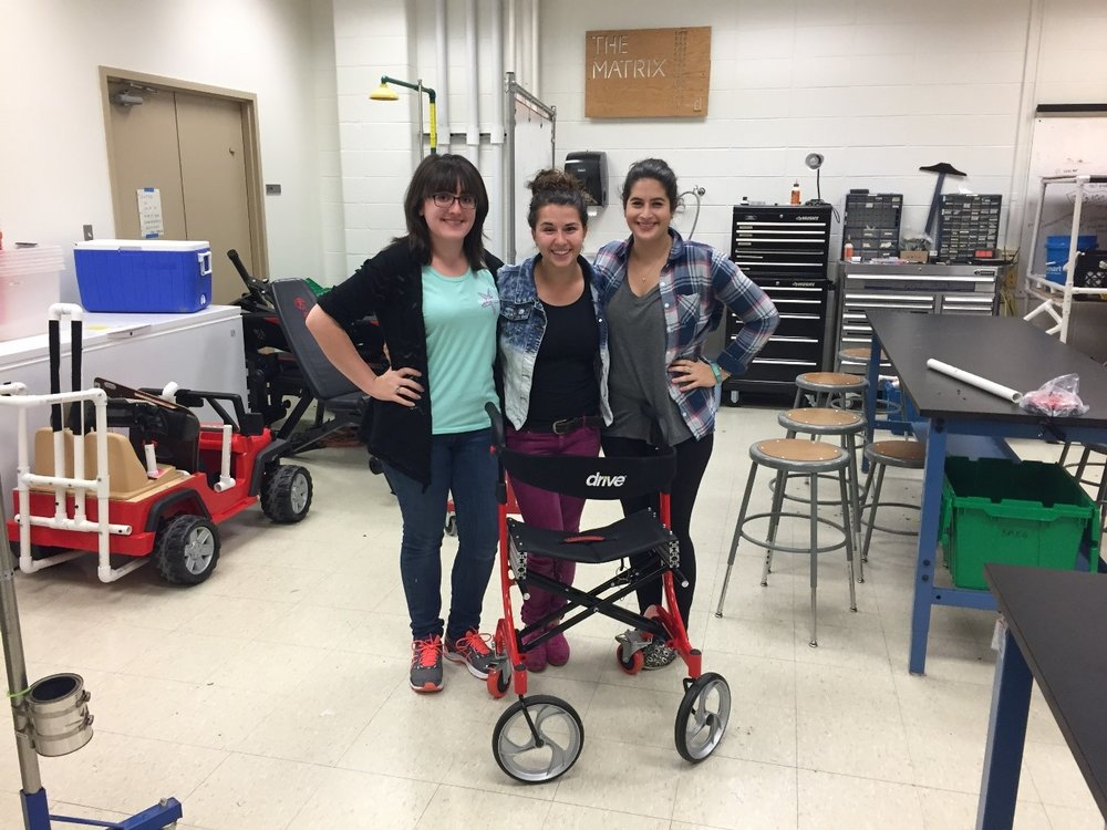 Students With Modified Walker