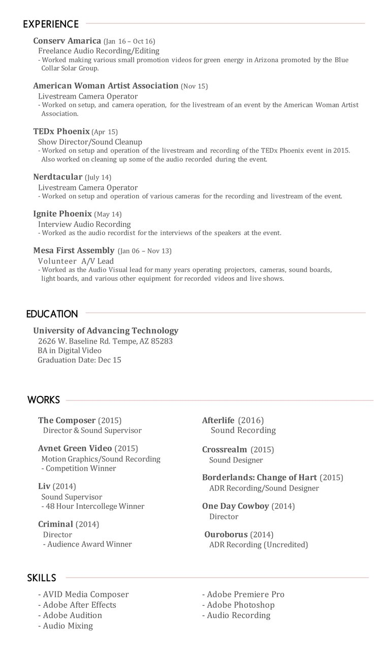 Resume — Darien Marion