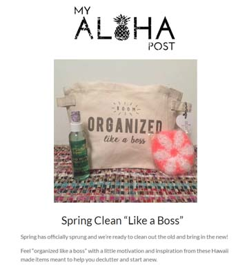 My Aloha Post Subscription Box Feature, April 2016 [ Click here for MAP website ]