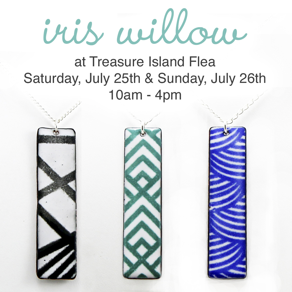 Join me this weekend for my first time selling my jewelry at Treasure Island Flea. It's sure to be a fun time with lots of fun vendors, food trucks, live music, drinks and more. Plus this weekend they're having a Hawaiian theme.  Find out more here.