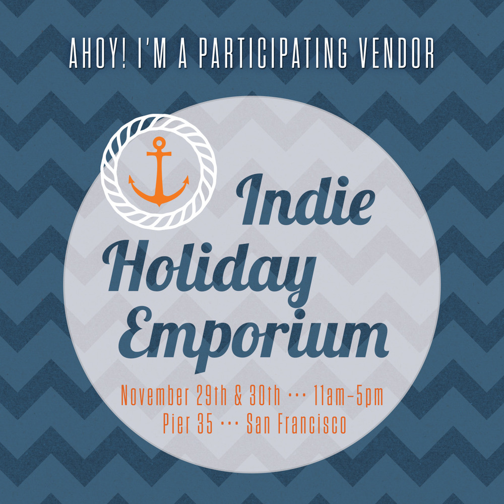 I just joined the SF Etsy Team, a group of local Bay Area etsy sellers and am excited to participate in their annual holiday craft show, the Indie Holiday Emporium. The show is Thanksgiving weekend - just in time to start your holiday shopping by buying unique presents from local artists and makers. I'll have a big selection of my enamel earrings and necklaces for sale along with some new designs. If you're staying in San Francisco for the holiday, be sure to stop by and say hi. It's free and open to all ages.