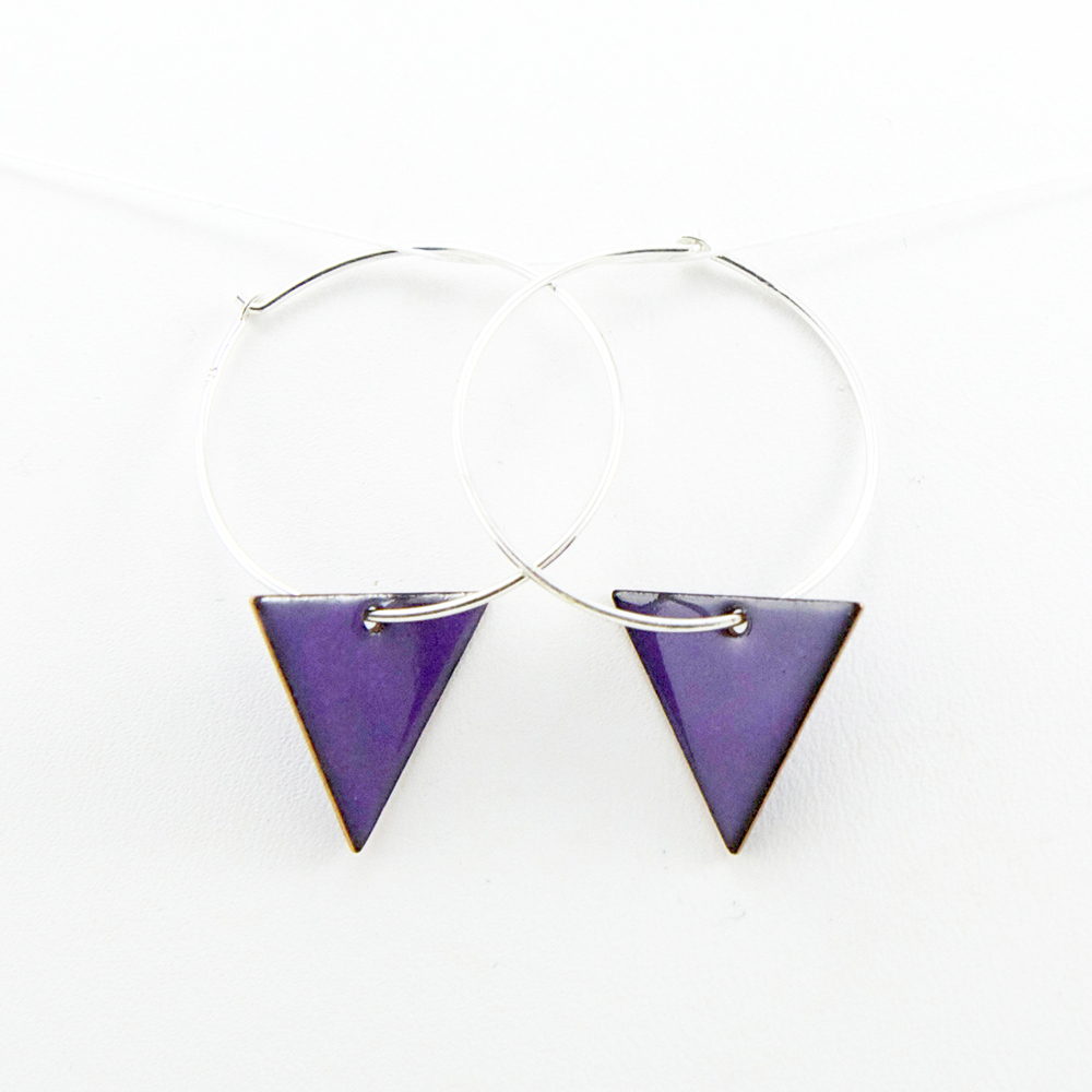 triangle hoops earrings purple Iris Willow.jpg