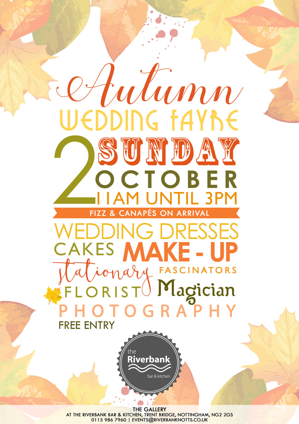 The Riverbank Autumn Wedding Fayre