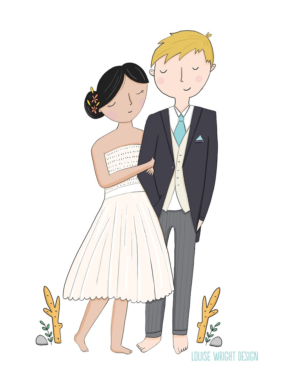 Louise Wright Illustration wedding cake