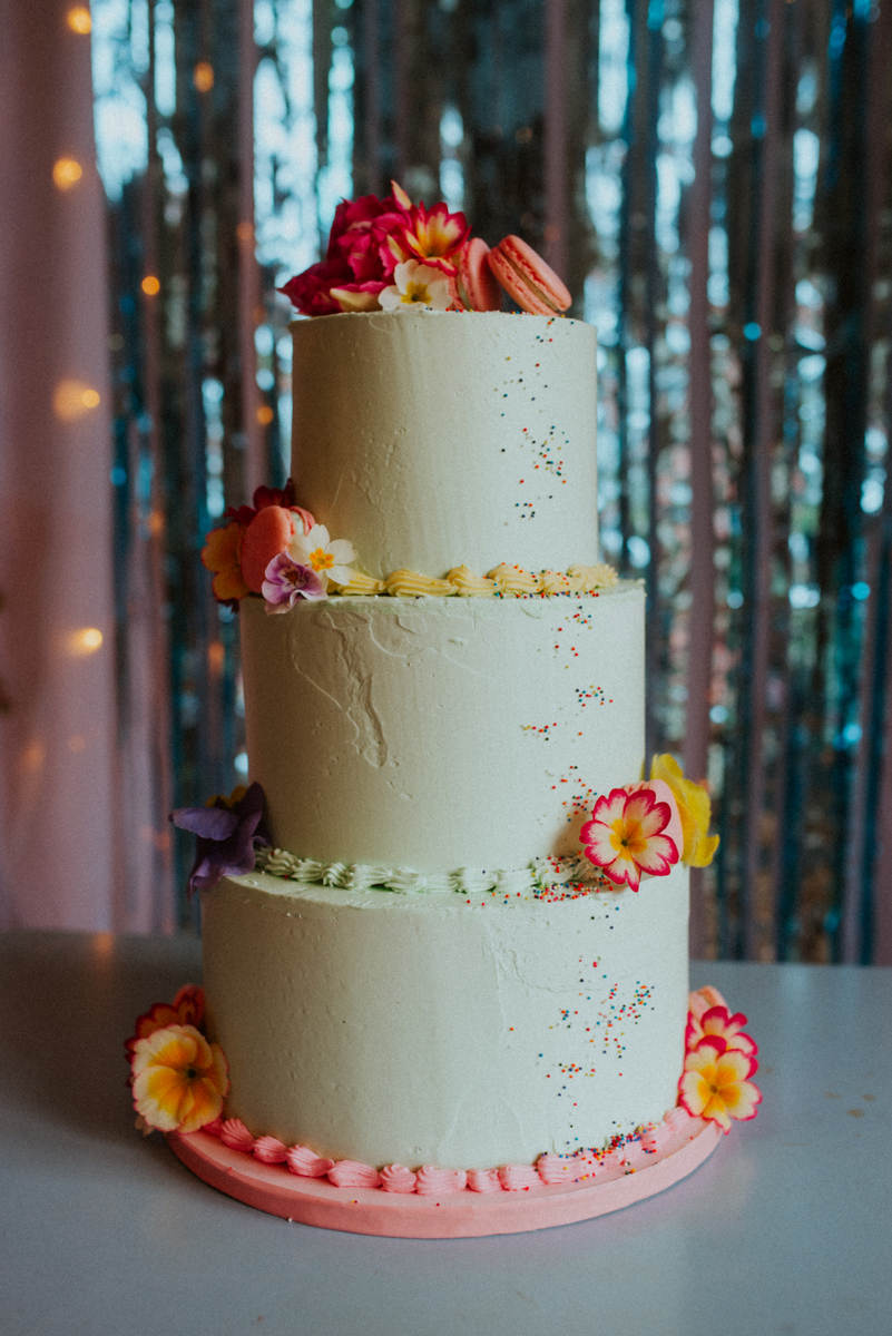 The Sweet Stuff | Mint green buttercream wedding cake