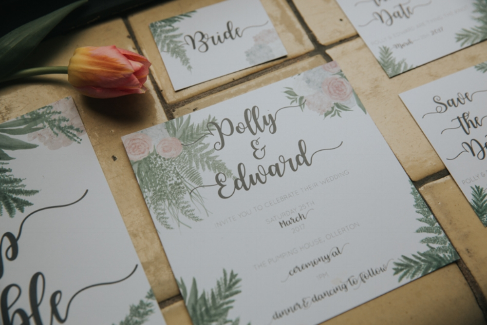 Into the Wild - Botanical Wedding stationery - Amy Bailey Design 1