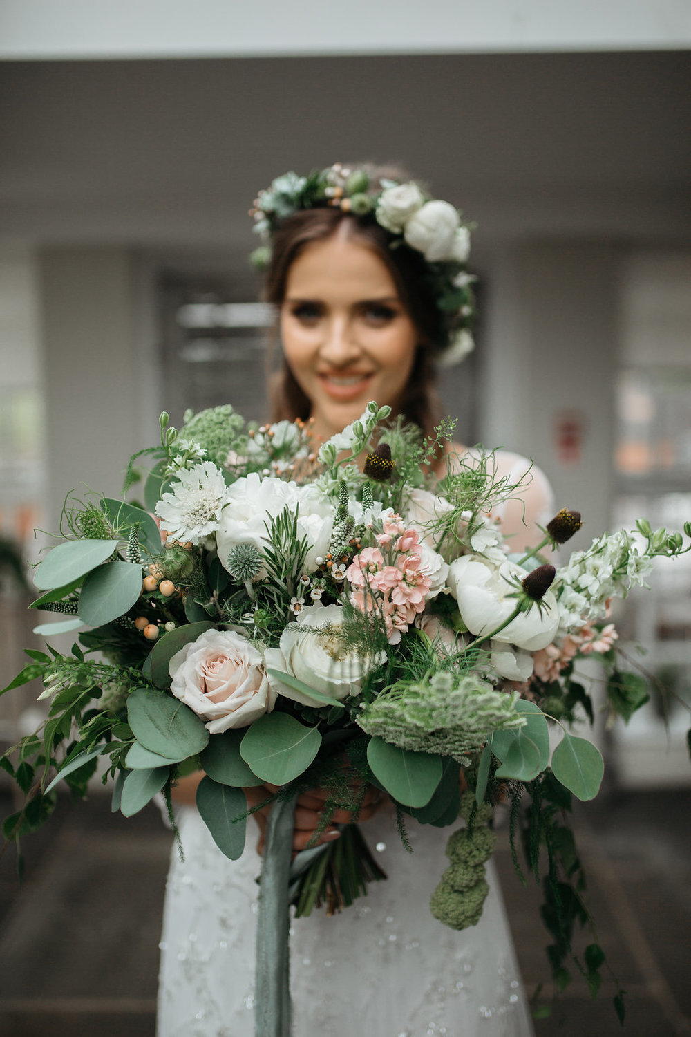 Boho botanical wedding bouquet | The Sweet Stuff