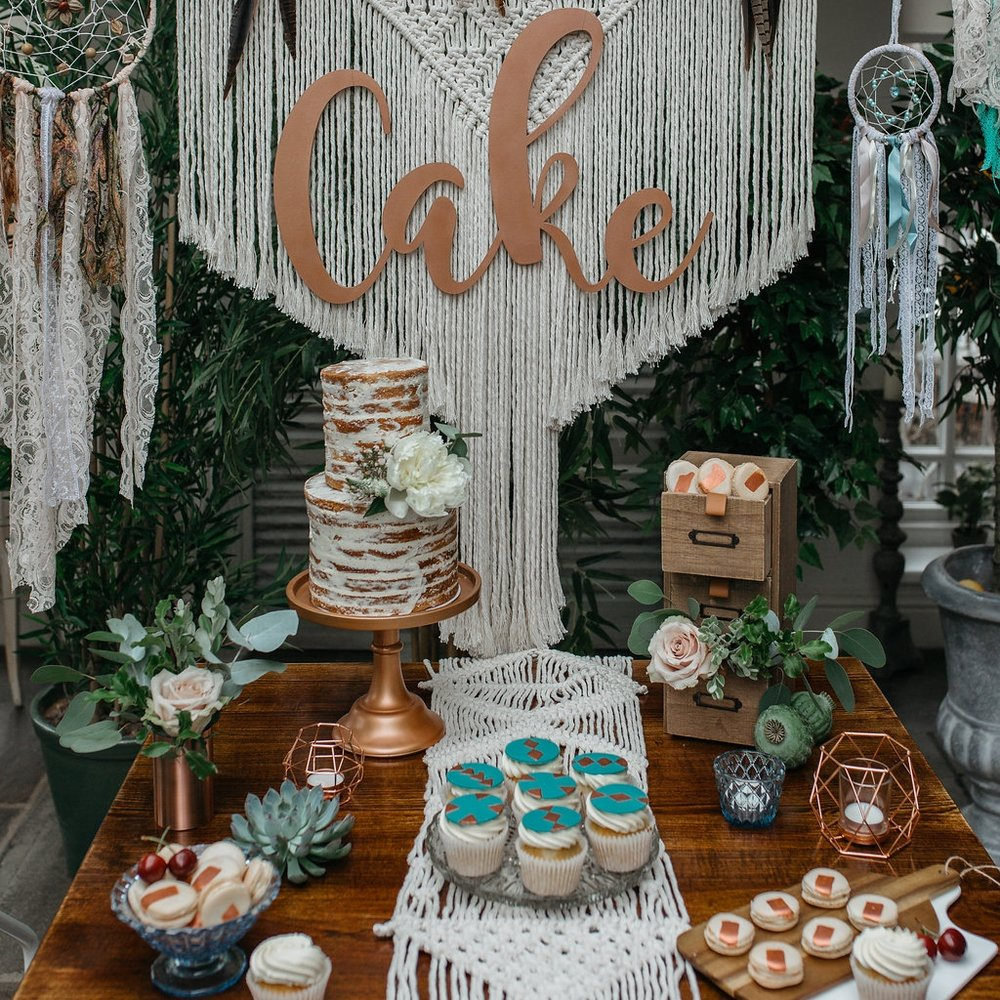 Boho-chic cake table | The Sweet Stuff
