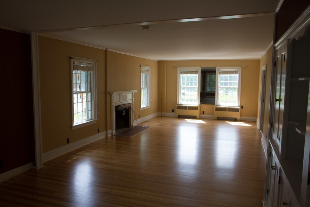 The original wood floor in 8 North Street.
