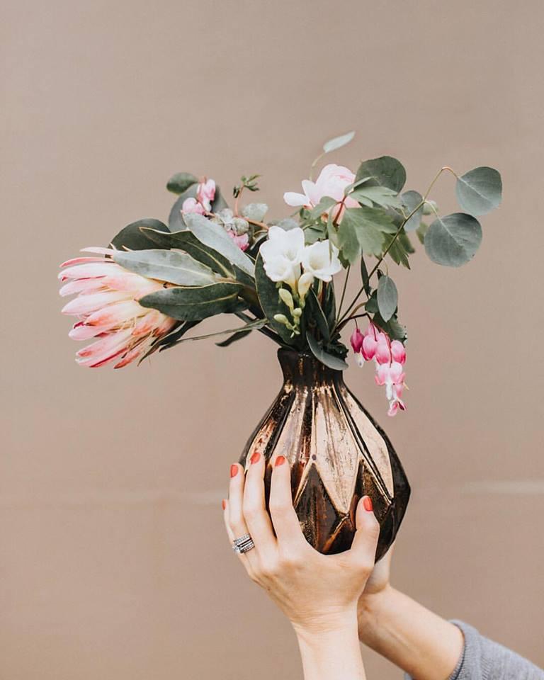 Custom Bouquet Gold Vase.jpg
