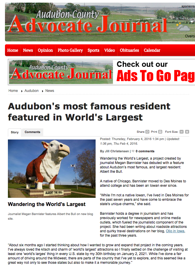 Audubon County Advocate Journal