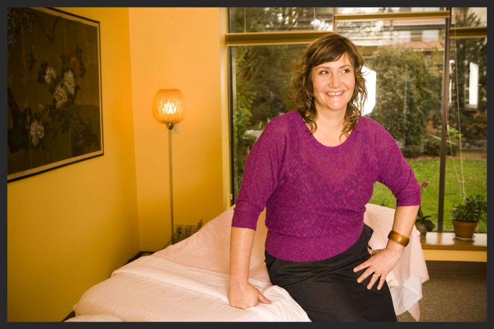 Lisa Ellis, LAC at  Fire Horse Acupuncture  heals our sprains and strains and muscle soreness.