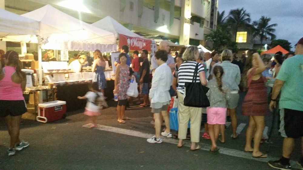 Another busy Kailua Farmers Market last week Thursday.