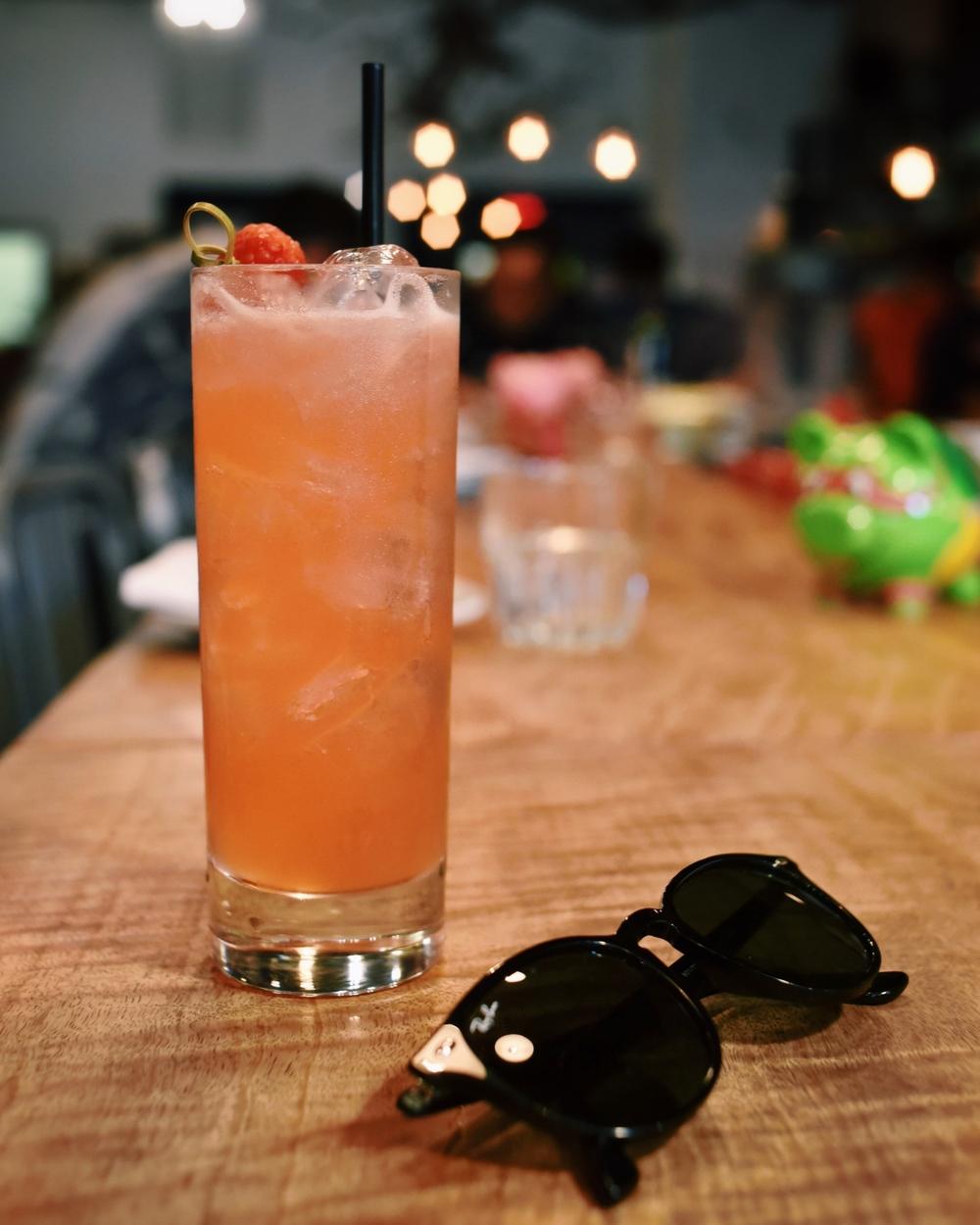 PLAY ON, vodka, raspberry, lemongrass, ginger