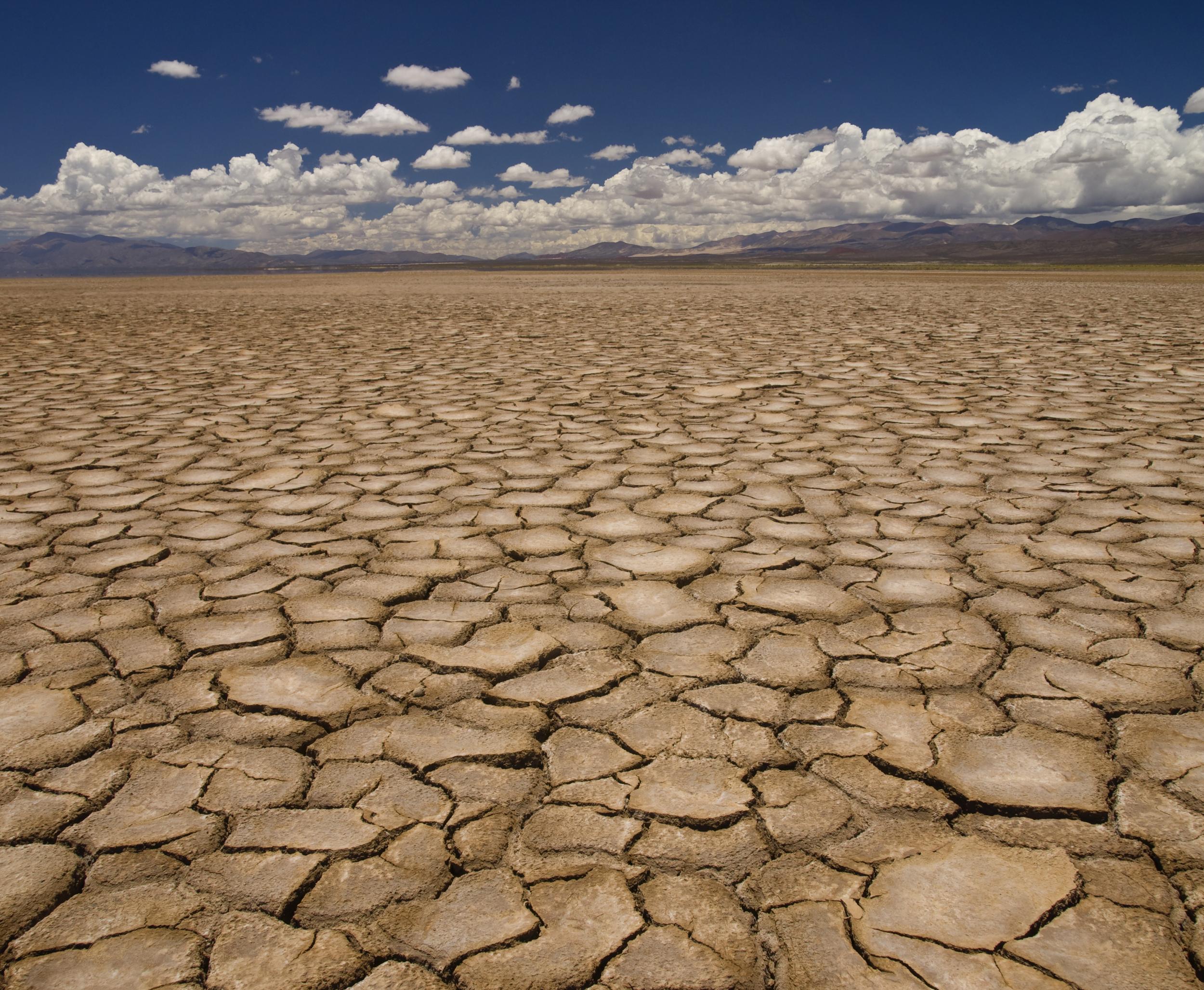 Waterless - dry desert