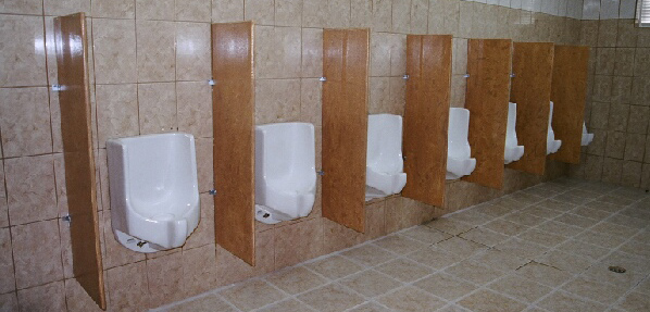 Waterless urinals installed