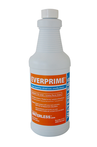 EverPrime Drain Trap Liquid for Dried Out/Smelly Floor & HVAC Drains