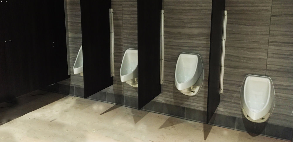 Mercedes Stadium Waterless Urinals