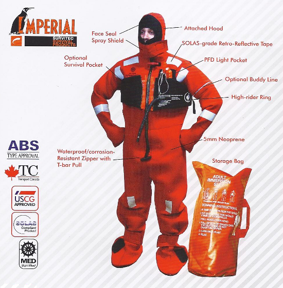 For more details on Survival Suits, give us a call!