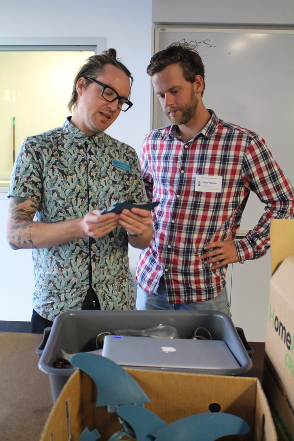 Adam Jefford (HOD, Creative Industries at PSSC) discusses ecoFin production with FiveOceans Co-Founder Felix Wunner.