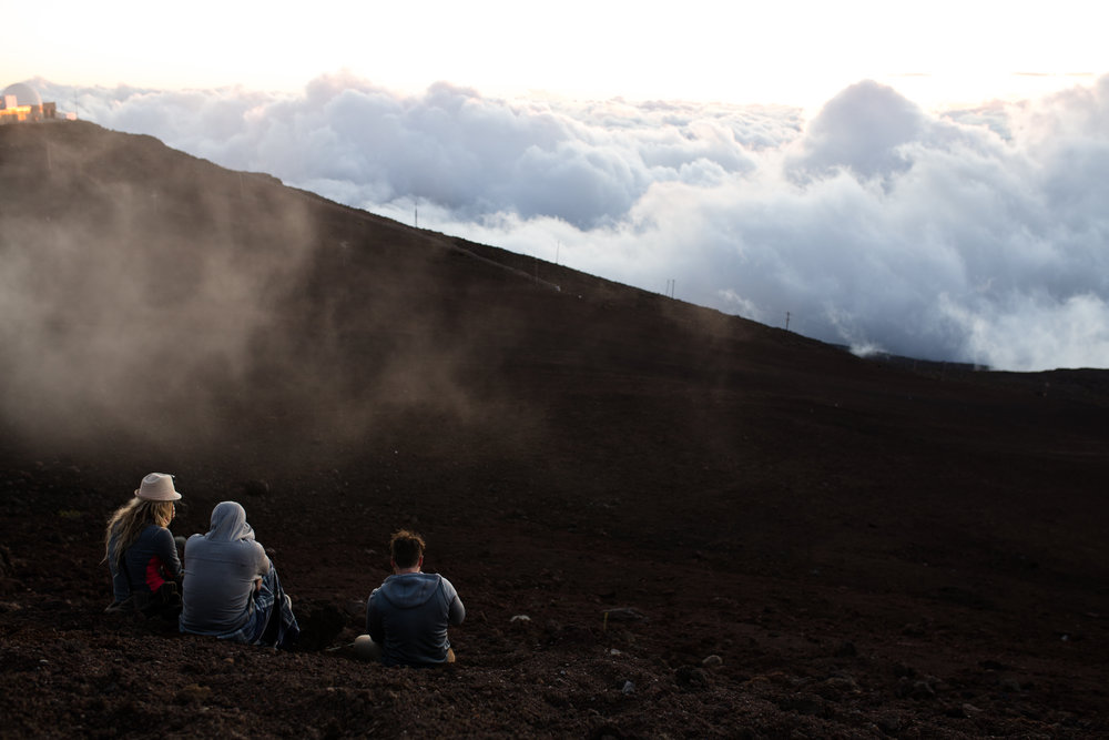 Watching the Sunset 10,000 ft above sea level at  the peak of Haleakala