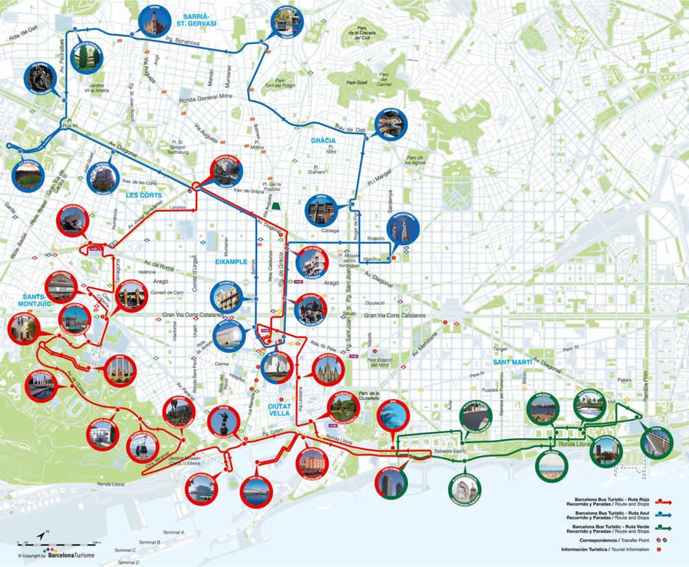 Barcelona Bus turistic rutes 2017.png