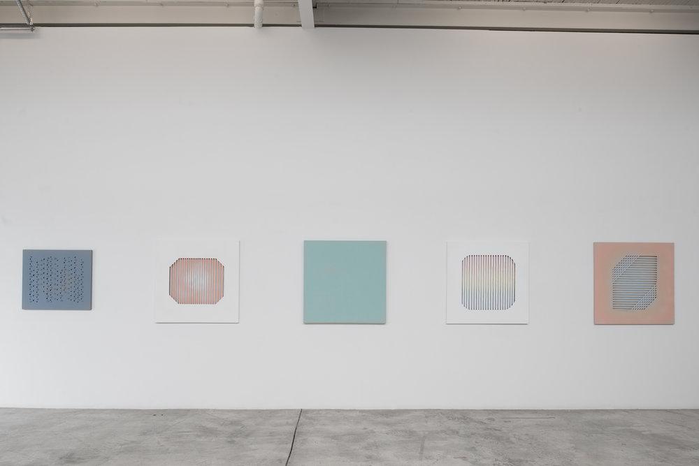 Derek Coulombe, Nestor Krüger, Kristie MacDonald, Janine Miedzik, Haley Uyeda    Installation view at Diaz Contemporary 2016