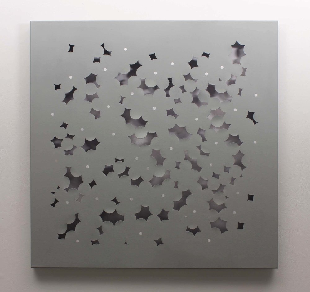"Inflorescence    spray paint on canvas  36"" x 36""  2015"