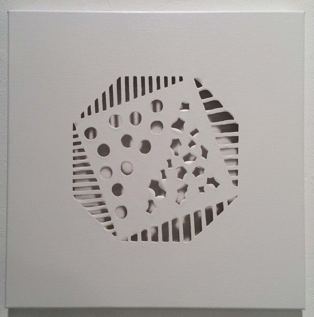 """spray paint on canvas 8"""" x 18"""" 2014"""