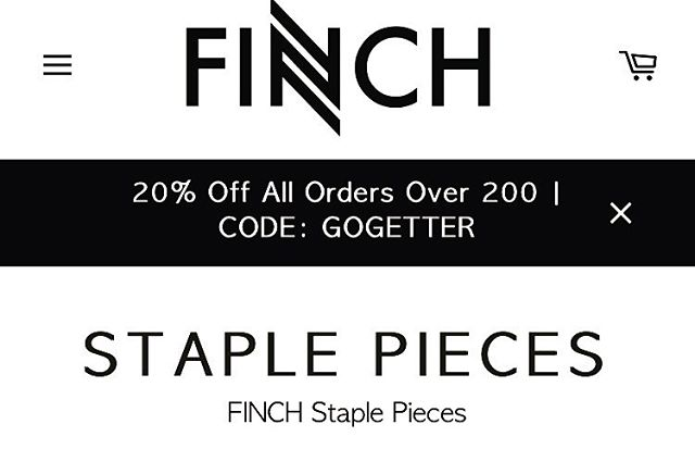 #FINCHClothingCo Is #GivingBack! 20% OFF All Orders Over $200. CODE: GOGETTER Ends May 31st ♥️💸 Link In Bio @finchclothingco #ShopFINCH