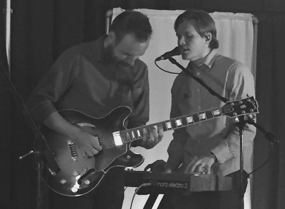 Micah Slankard on the guitar, Josiah Ravish on keys