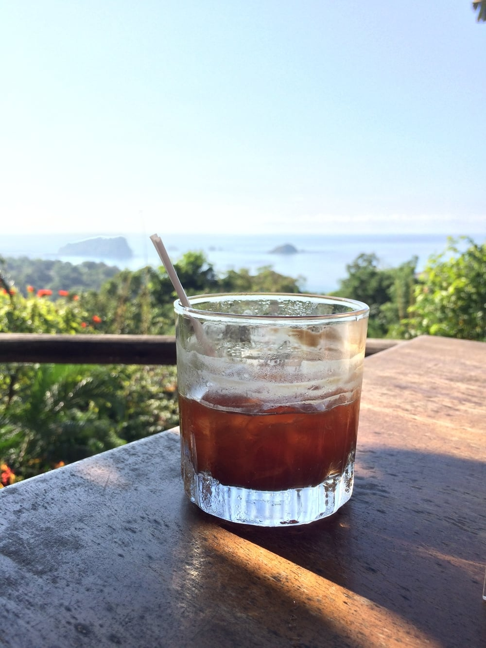 Coffee with a view at Emilio's in Manuel Antonio, Costa Rica