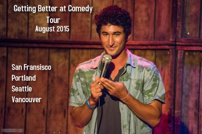 Spent the end of summer 2015 driving up the West coast doing stand up, it was a trip I will remember this trip forever.