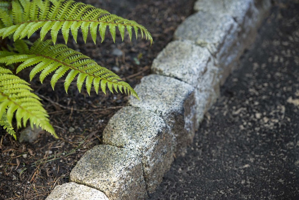 Vertical Granite Cobble Curb Land Morphology
