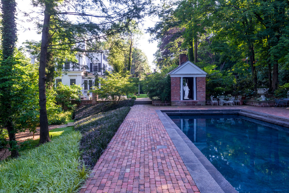 Greek Revival Pool Area