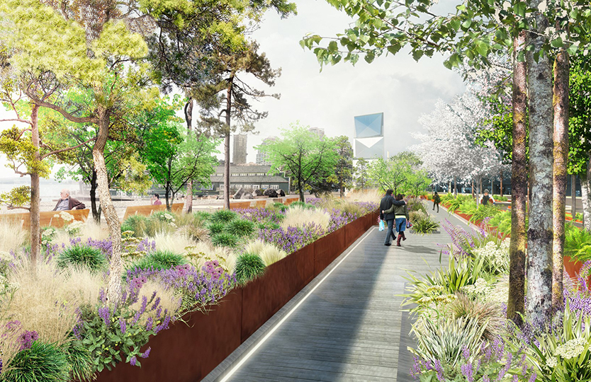 Seattle Waterfront Rendering - Waterfront Seattle Graphic by  James Corner Field Operations