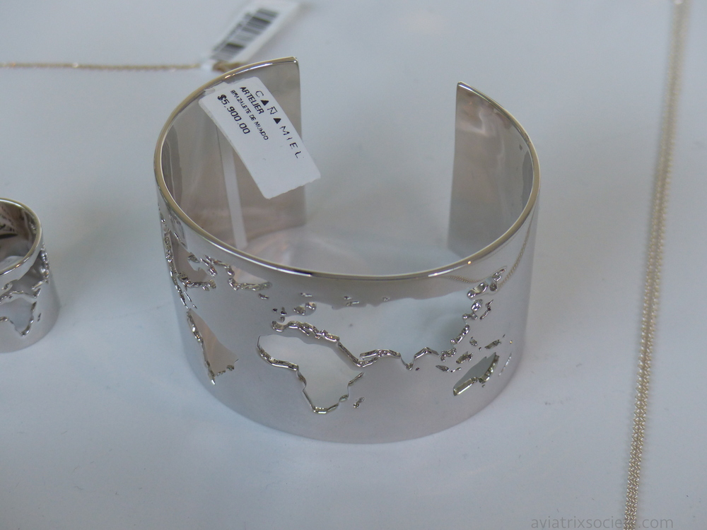 "Artelier Cristina Ramella silver ""world"" cuff bracelet at Cañamiel Polanco, Mexico City"