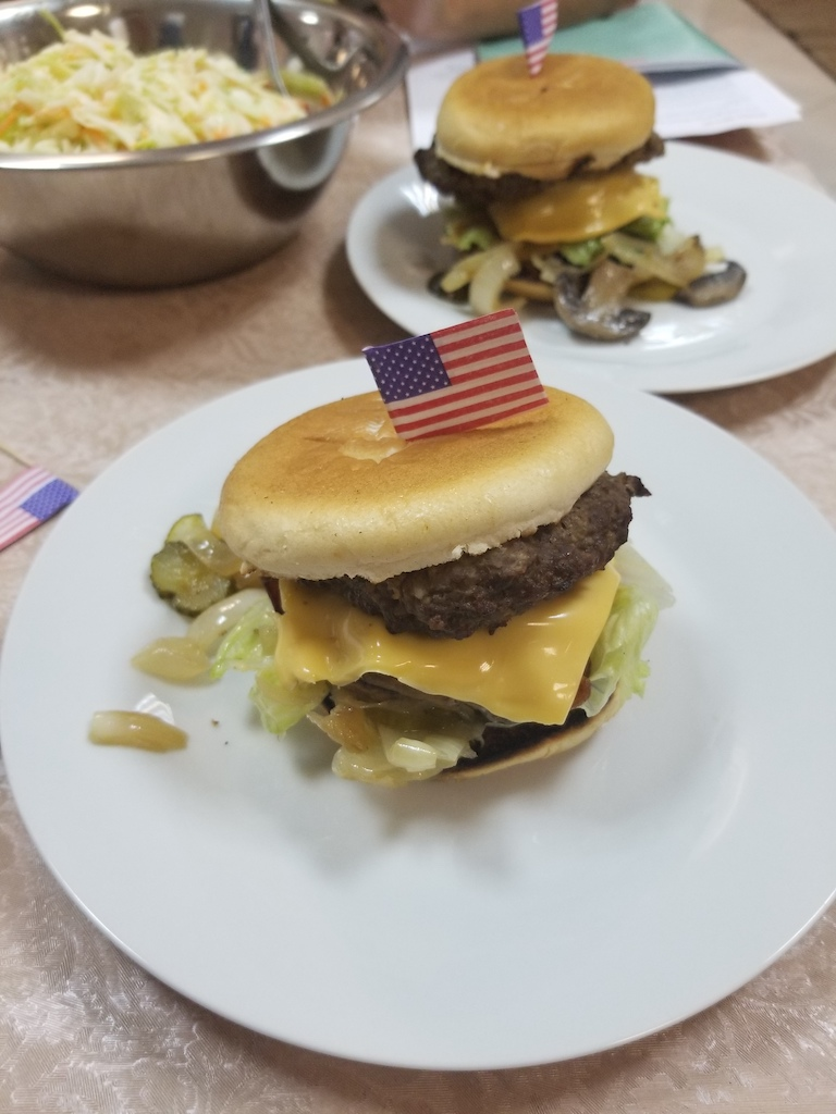 Last night's American burger themed dinner.  It was a huge hit!